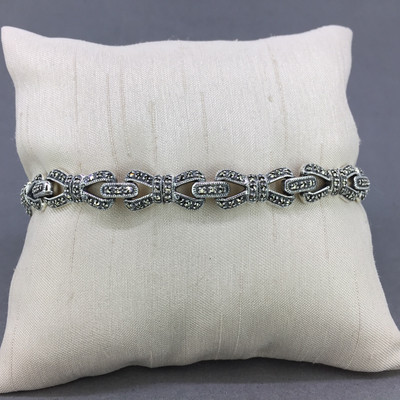 Marcasite Bow Bracelet
