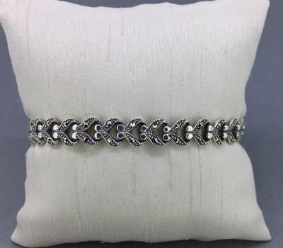 Marcasite Hearts Bracelet