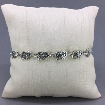 Marcasite Elephant Bracelet