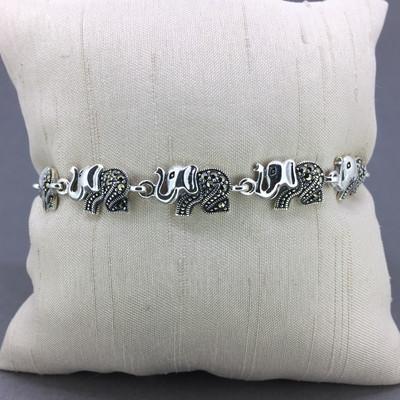 Marcasite Elephant Bracelet II