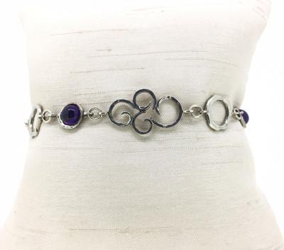 Amethyst Scroll Toggle Bracelet