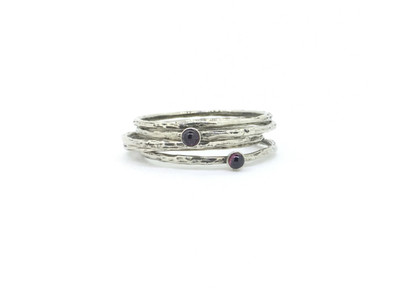 5-Band Stackable Garnet Ring