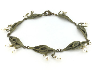 Lily of the Valley Pearl Bracelet