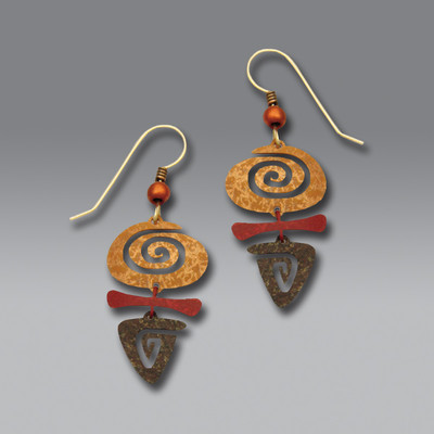 Round/Triangle Spiral Earrings
