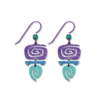 Rectangular Spiral Earrings