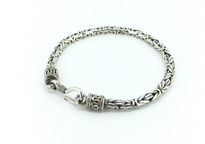 Sterling Silver Thick Byzantine Bracelet