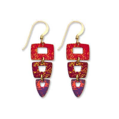 Triple Tier Geometric Earrings