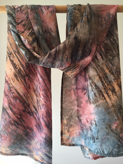 Herschel Silk Tie-Dyed Scarf