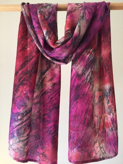 Herschel Wine Silk Tie Dyed Scarf