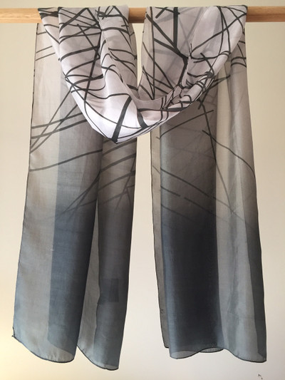 Redmayne Silk Stripe Scarf