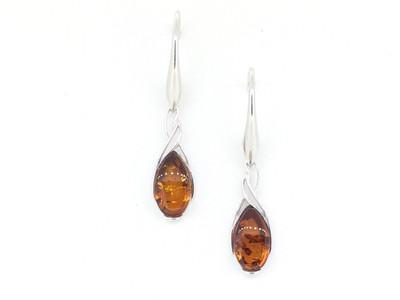 Honey Amber French Hook Earrings