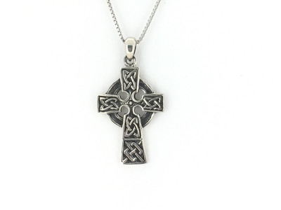 Sterling Silver Celtic Cross Pendant w/Chain