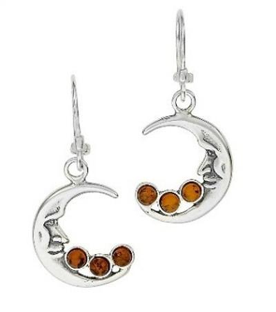 Moon Amber Earrings
