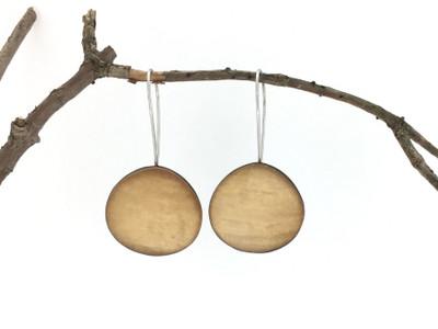 Sand Organic Wire Earrings