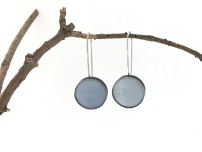 Cashmere Resin Disc Wire Earrings