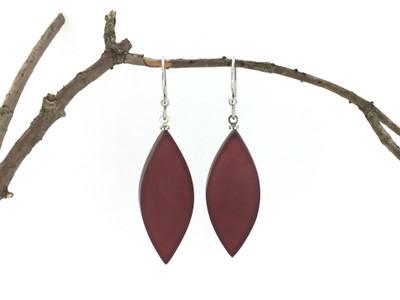 Merlot Leaf Wire Earrings