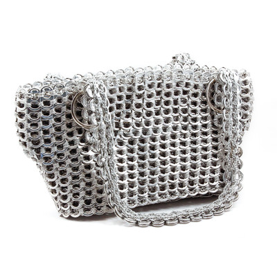 small soda tab purse gail bag silver