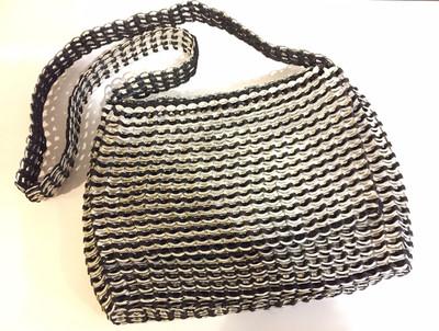 Soda Tab Traveler Crossbody Bag, Black