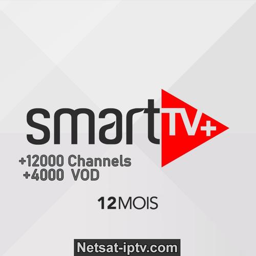 Abonnement SMART+ PLUS IPTV 12 MOIS SMART TV ,ANDROID IOS récepteur ..