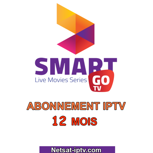 Abonnement SmartGO TV IPTV 12 MOIS ANDROID IOS