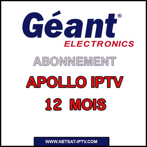 Abonnement APOLLO IPTV POUR RECEPTEUR GEANT STARSAT