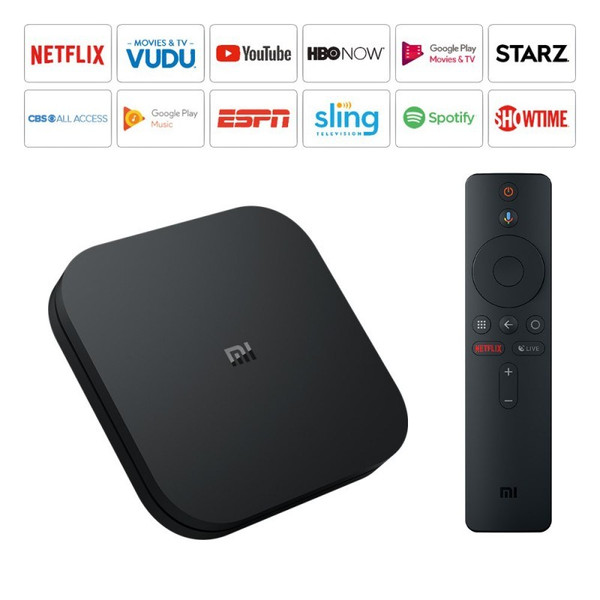 Xiaomi Mi TV BOX 3 Android TV 8.0 Smart 4K HDR Quad Core 8GB +IPTV Youtube fronde TV Netflix DTS Dolby