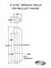 FSP 080 G/F Weld On Hinge Schematic