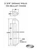 AFSSP 060 Aluminum Weld On Hinge Schematic