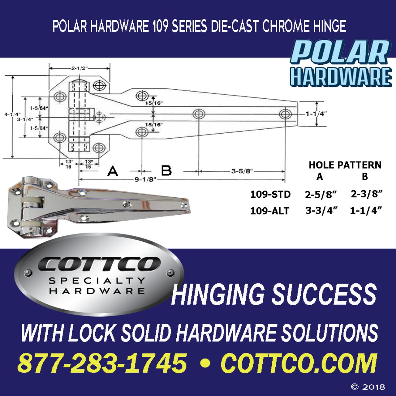 Polar Hardware 109 Chrome Hinge