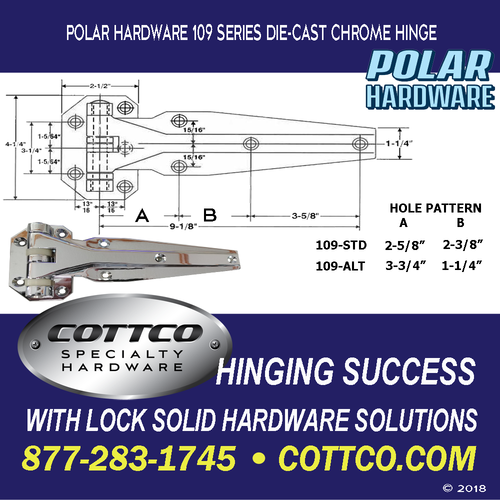 Polar Hardware 109 Chrome Hinge