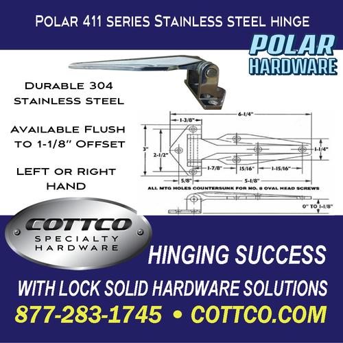 POLAR 411 Stainless Steel Hinge