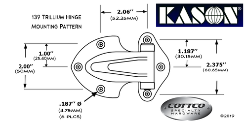 Kason 139 Hole Mounting Pattern
