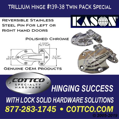 Trillium Hinge #139-38 Twin Pack Special