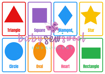 Printable Shapes Flashcards