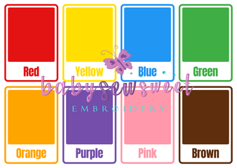Printable Colors Flashcards