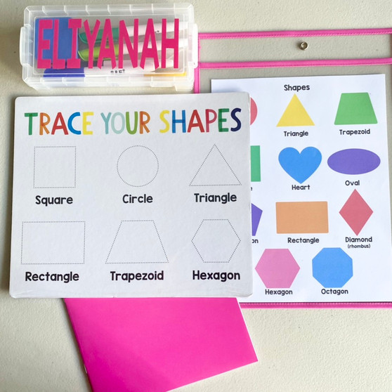 Dry erase board for toddlers and preschoolers