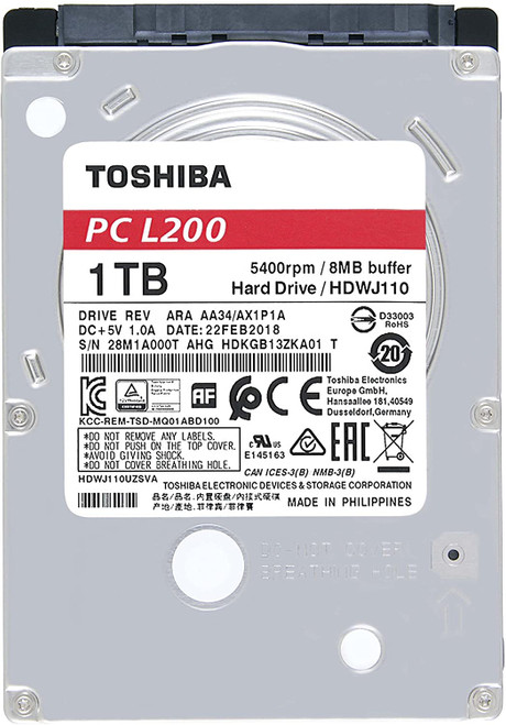 1TB 2.5 inches 5400RPM 9.5mm Mobile