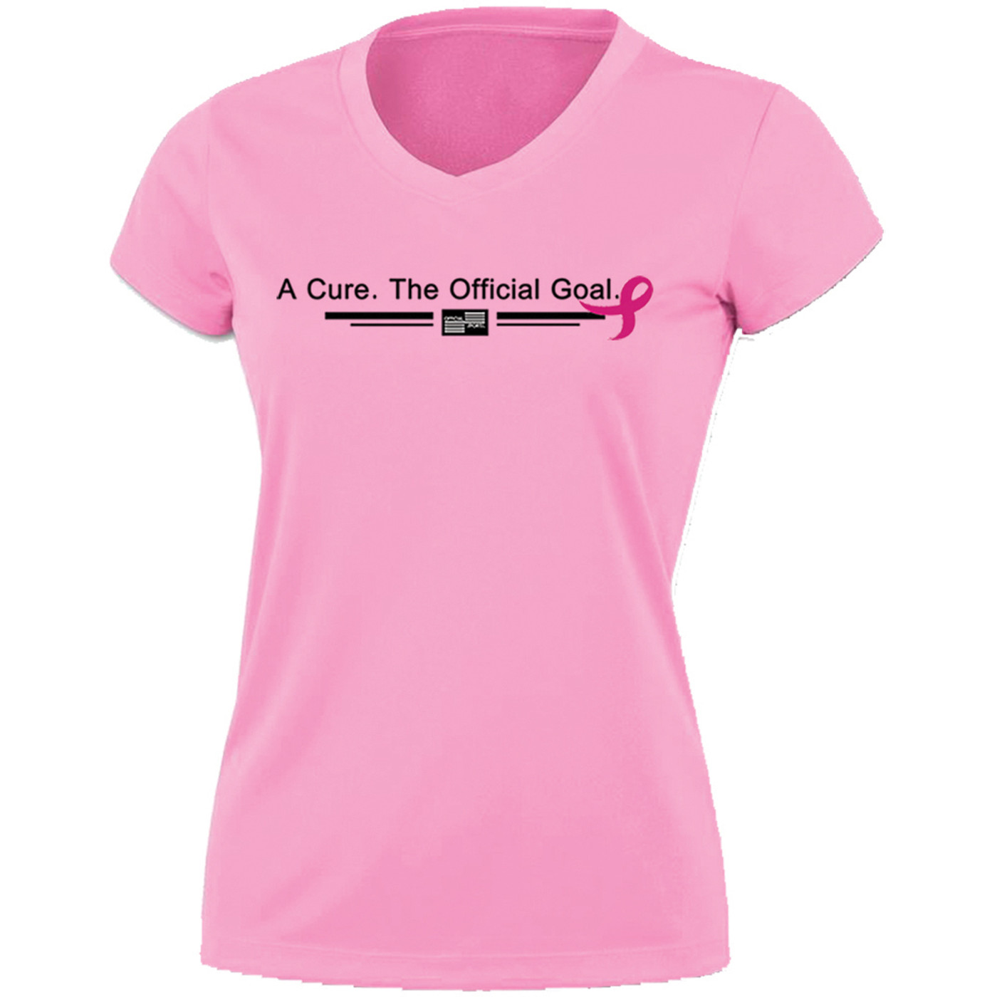 2203LPBC Women's Wicking Breast Cancer Awareness T-Shirt