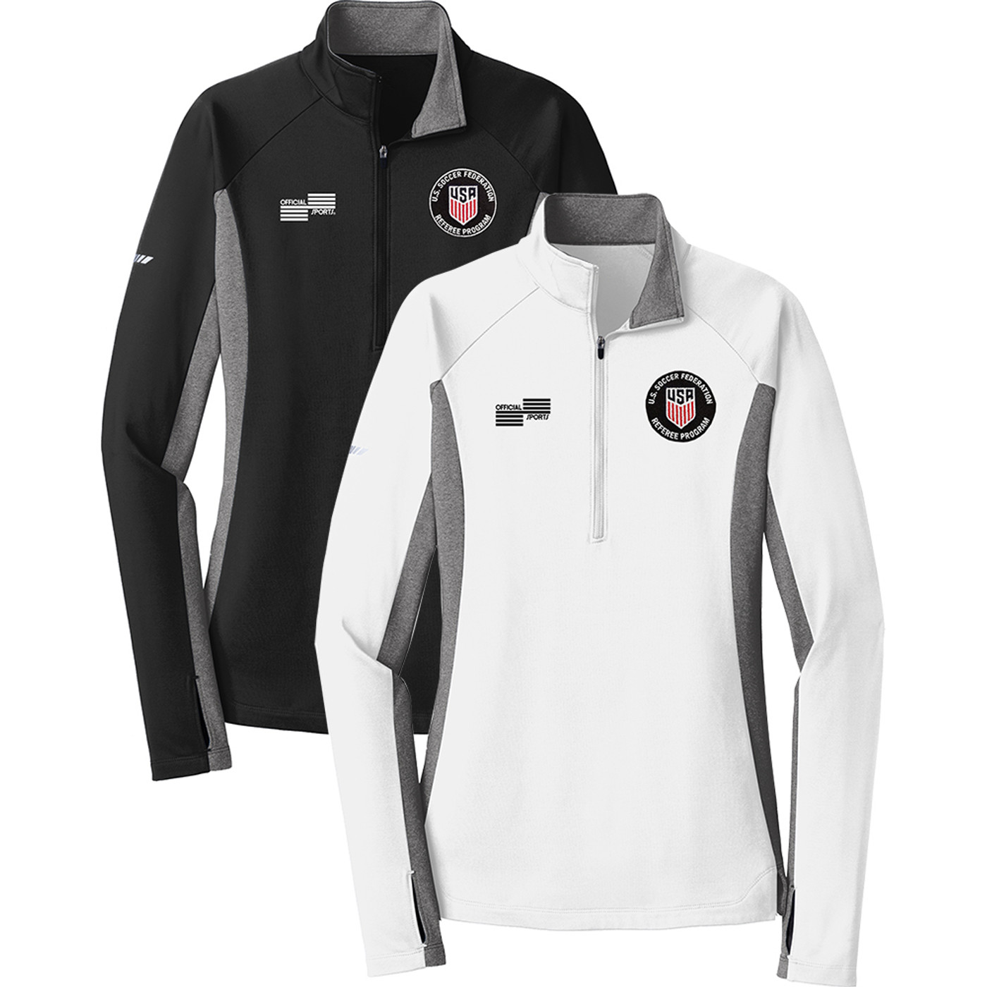 W2318CL USSF Midweight 1/4 Zip Pullover