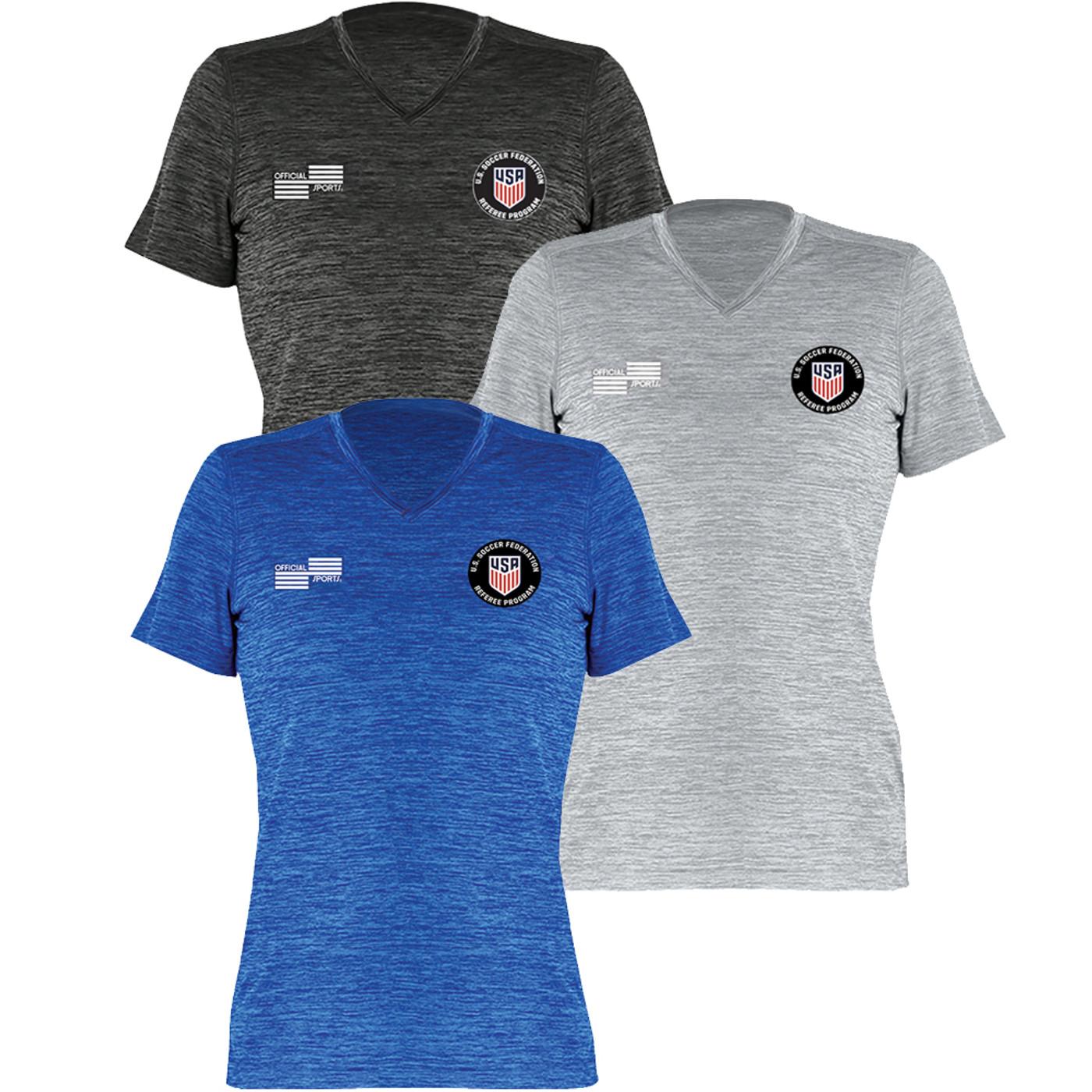 W2000CL USSF Women's Heathered Training T-Shirt