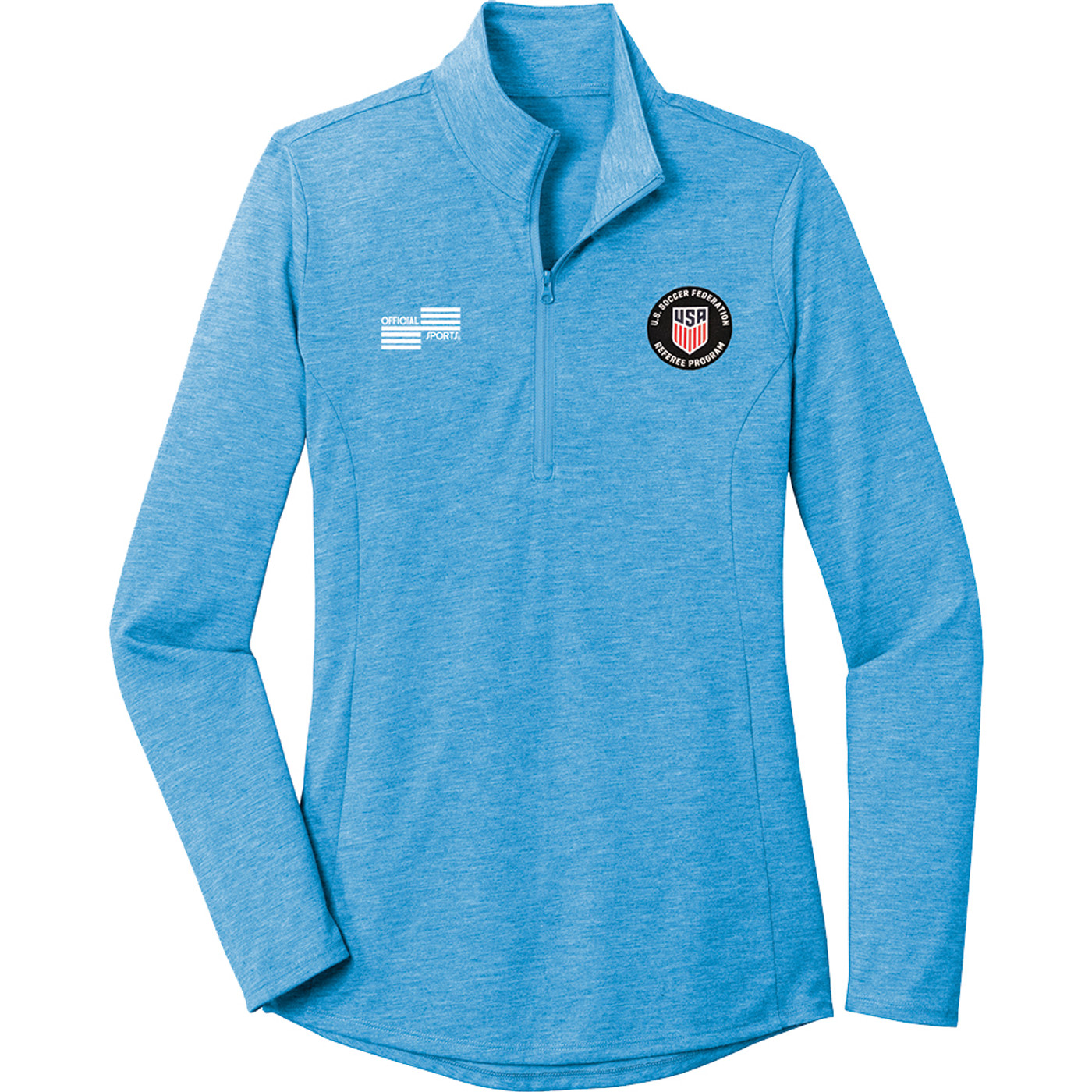 W2327CL USSF Women's Tri-Blend 1/4 Zip