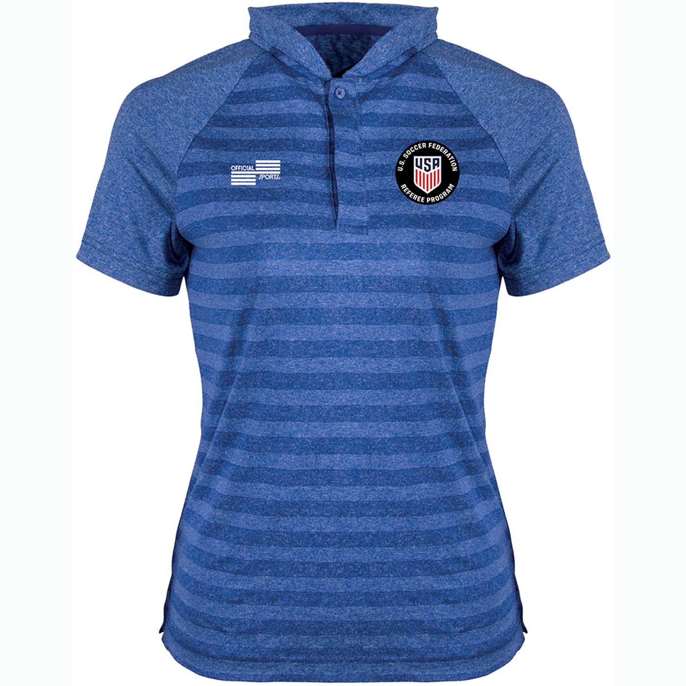 W2400CL USSF Woman's Blade Collar Golf Shirt