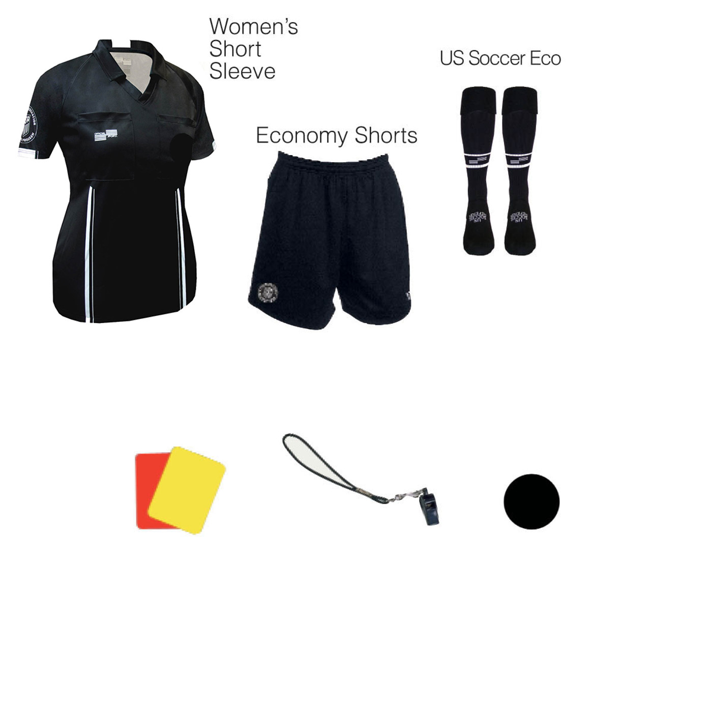 W1817BLK Women's Black 7 Piece USSF Starter Kit