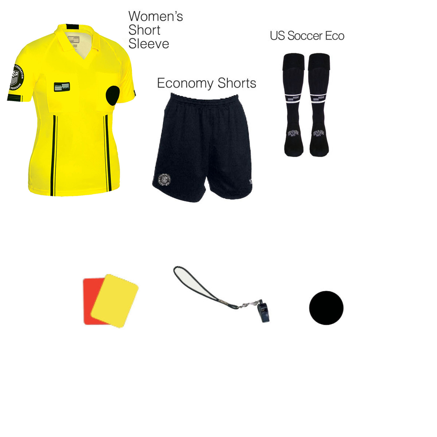 W1817Y Women's Yellow 7 Piece USSF Starter Kit