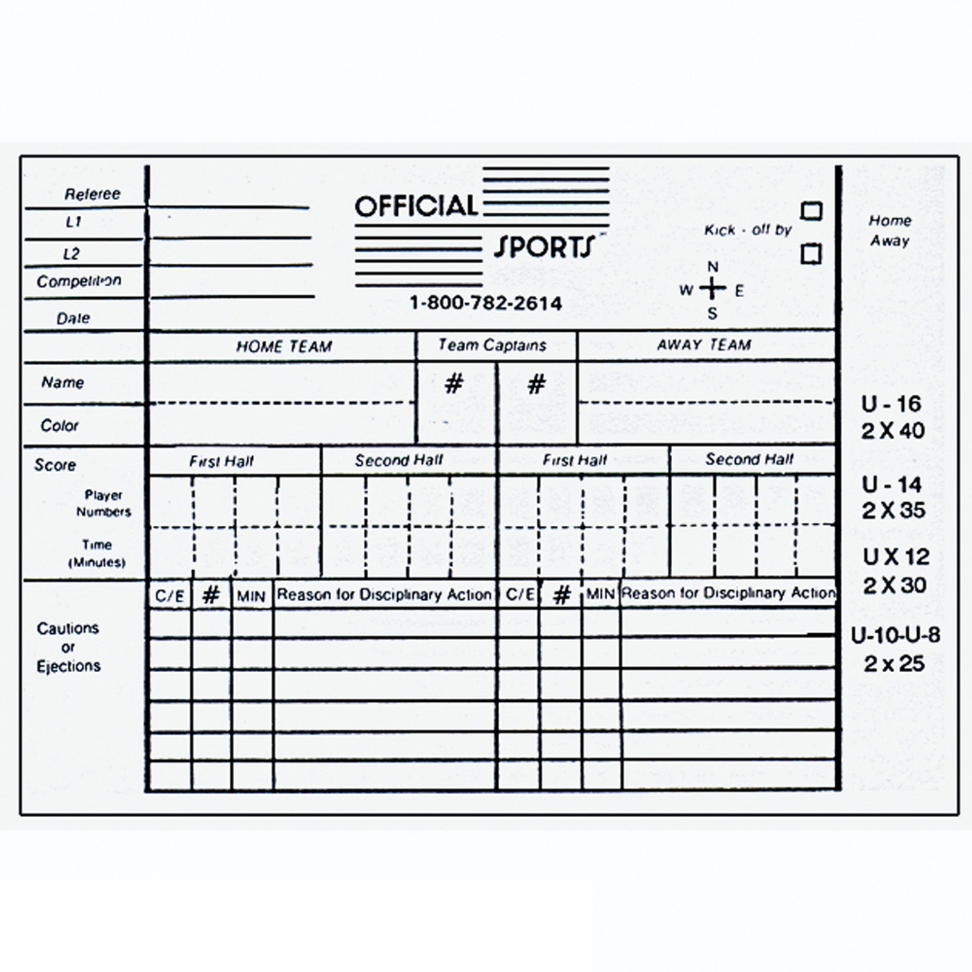 1815Y Men's Yellow 11 Piece USSF Starter Kit SPak