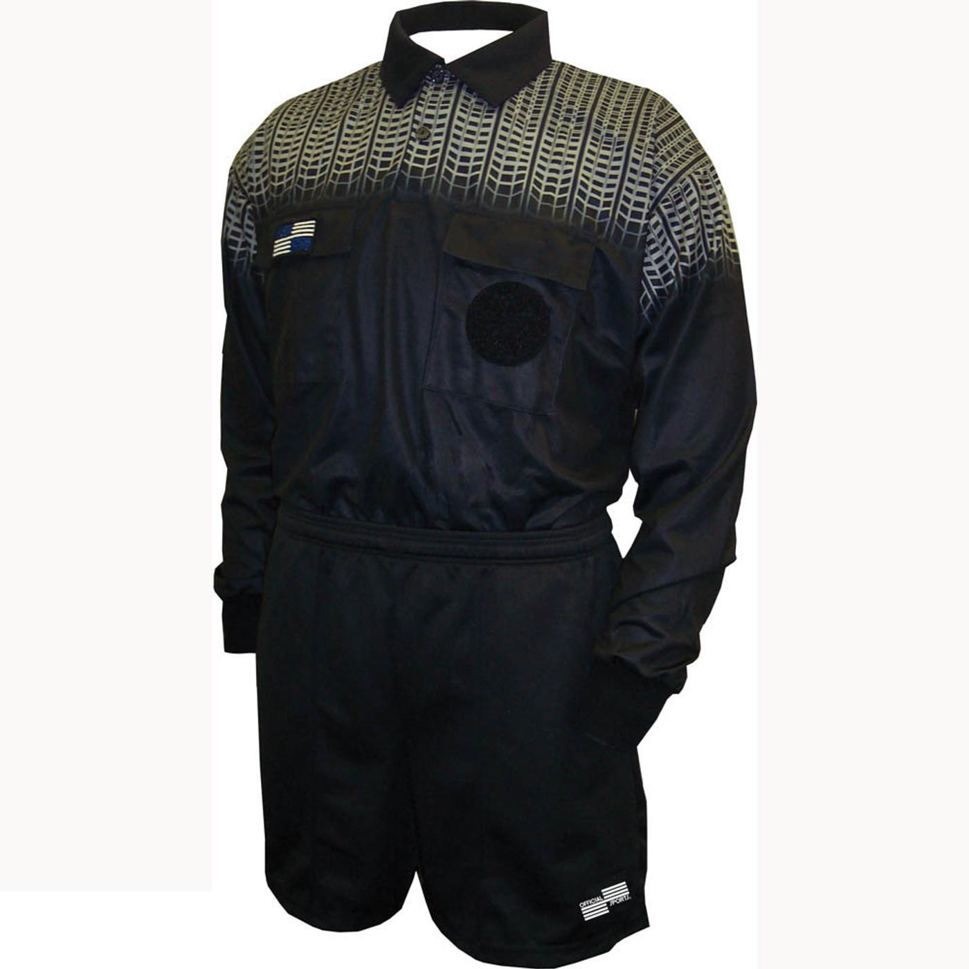 5020NC NISOA Coolwick LS Black Grid Shirt