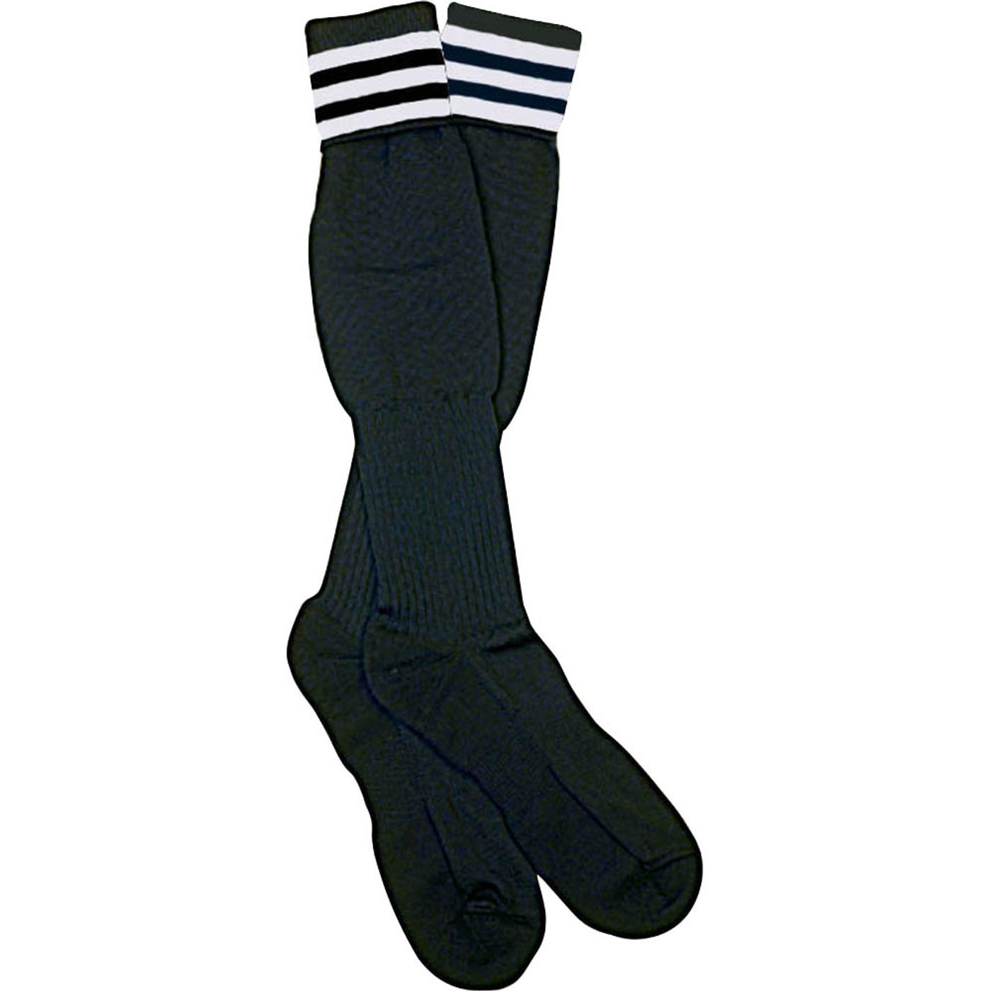 1309 The Italian Ref Sock, White Stripe