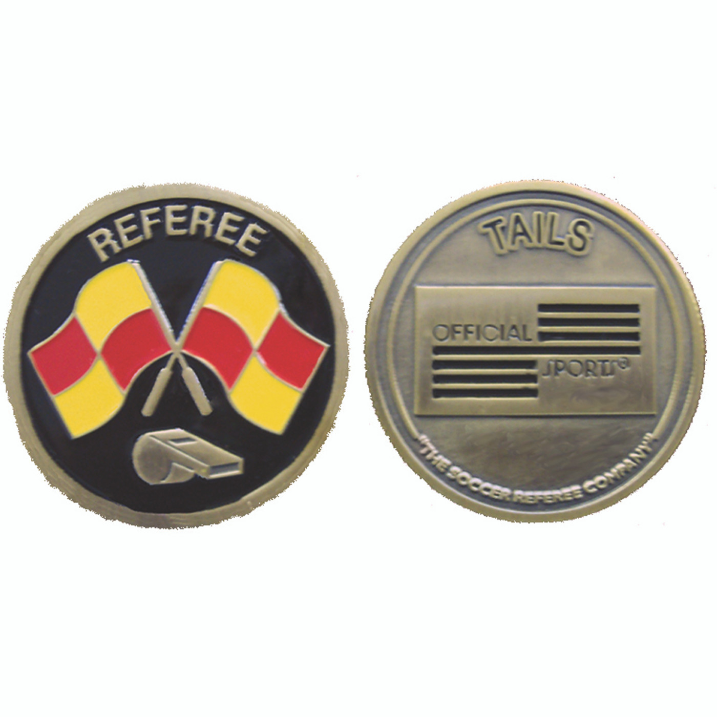 7002 Flag And Whistle Flip Coin