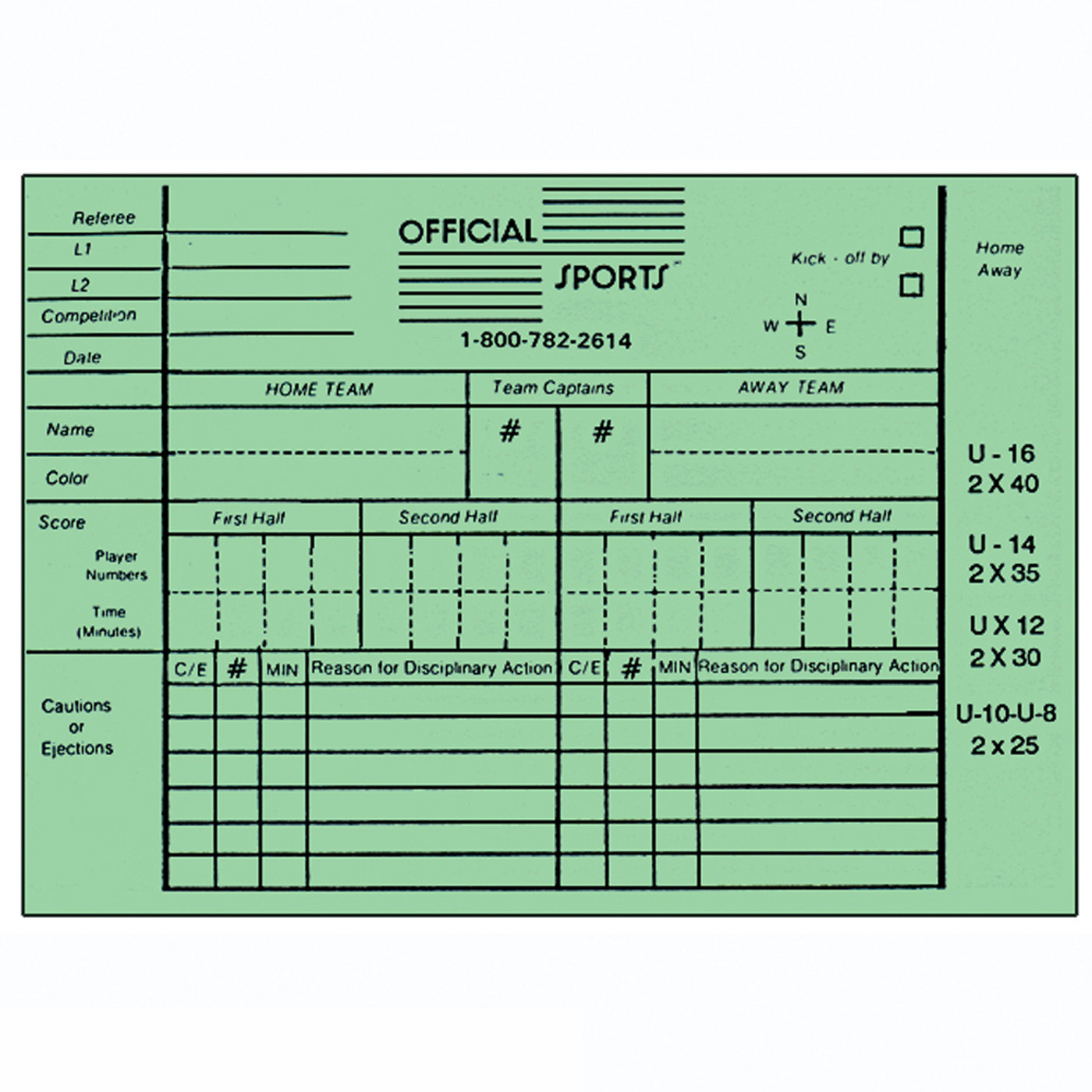 2045 Report Forms - Green