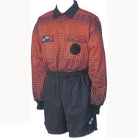 5016NC NISOA Coolwick LS Orange Grid Shirt